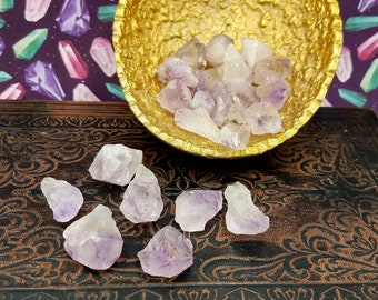 6pc Small Rough Amethyst Crystal Points