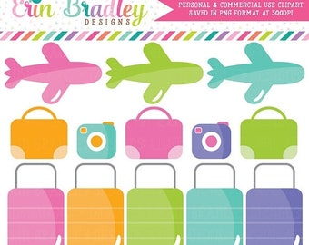 80% OFF SALE Travel Clipart, Airplane Clipart, Commercial Use Graphics