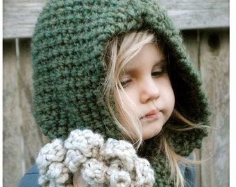 Knitting PATTERN-The Harper Hood (Toddler, Child, Adult sizes)