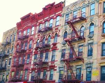 Rows of Buildings in the Lower East Side, New York City Photography Print