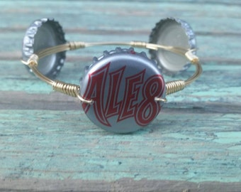 Ale8 Ale81 Bottle Cap Wire Wrapped Bangle Bracelet (Kentucky Drinks) Ale 8 One