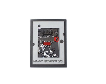 Fathers Day - Shaker Card - Tool Box - Tools - Nails - Card for Dad - Husband Card - Masculine Card - Interactive Card - 3D Card