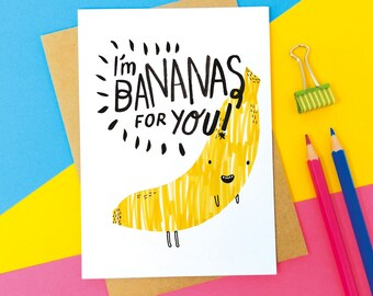 Bananas For You Greeting Card