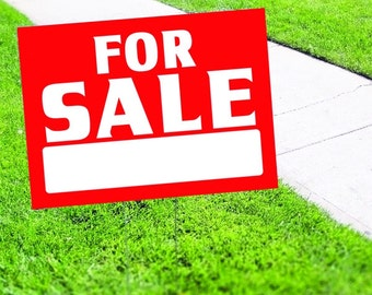 For Sale Yard Sign Corrugated Plastic with Free Stakes