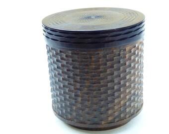 Ornamental turned Box (lignum VItae/ ebony)