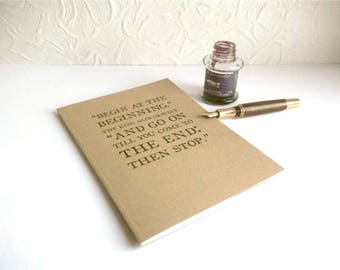 A5 Reading Journal - Alice in Wonderland Quote | Bookish Notebook, Gift for Librarian or Reader | Reading Log with Index, Book Notes Journal