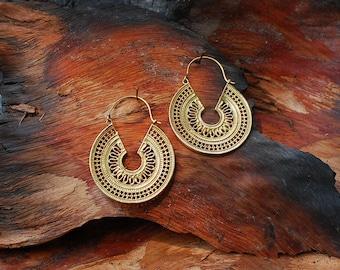 Farao Roundies - brass ear jewelry, earrings