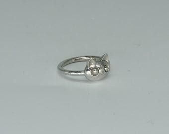 Ring cat ring kitten ring silver gold ring kitty Silver ring Cat