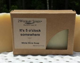 White Wine Soap - It's 5 o'clock somewhere - champagne soap