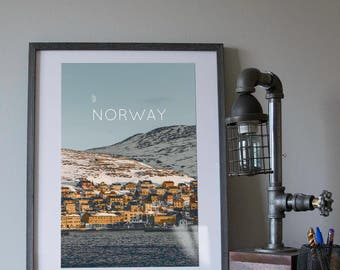 Honnigsvag, Norway Poster 11x17 18x24 24x36