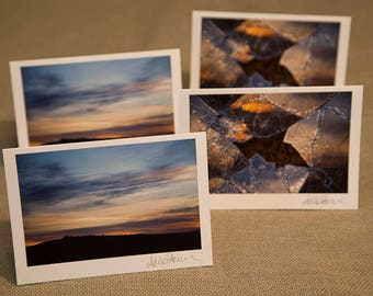 Sunrise and Reflection of a Sunrise Notecards