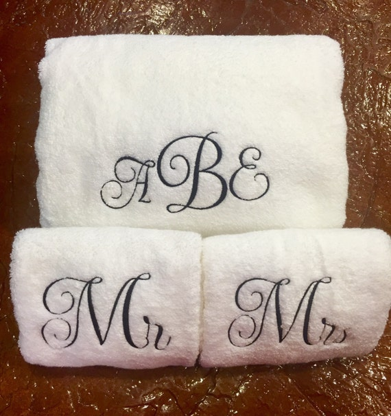 Image result for monogram towels his and hers