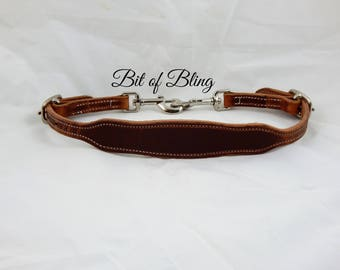 Oiled Harness Leather Wither Strap Horse Tack Rodeo Barrel Racing Pole Bending Trail Riding Equine