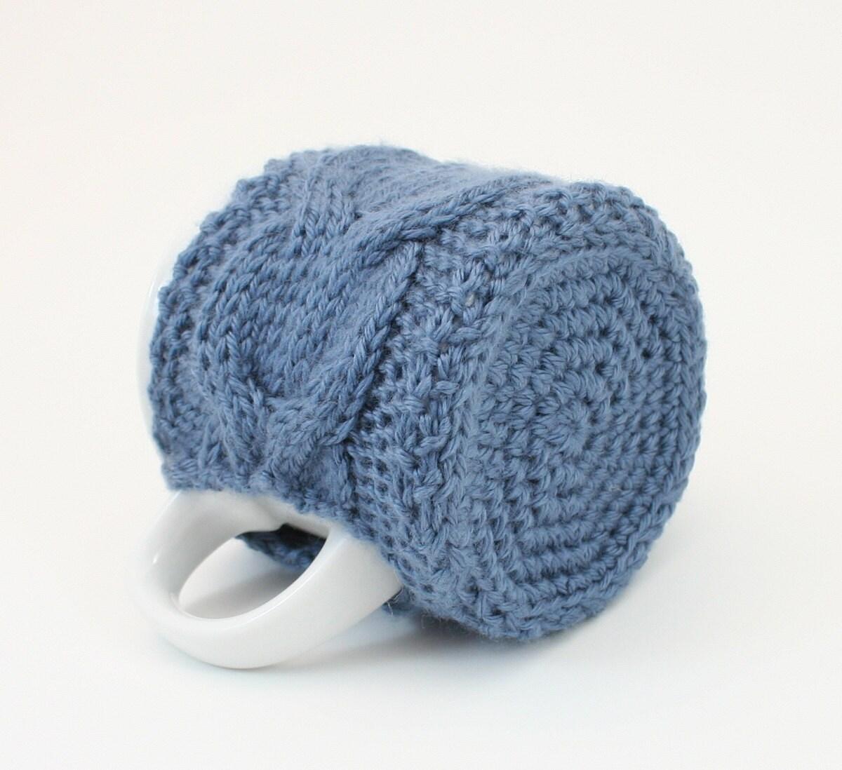 PDF DIGITAL PATTERN:Knit Mug Cozy Pattern,Coaster Pattern,Coffee Mug ...