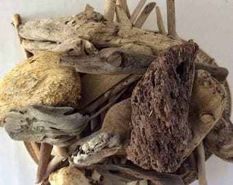 Driftwood - 175+ pieces - Hawaiian Driftwood - 5 pieces with Natural Holes - photo props - Bulk Driftwood - Floral display - wedding decor