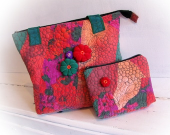 Patchwork handmade bag  Quilted bag Art textile bag Gift for mom Hobo bag Patchwork purse Quilted purse Birthday gift