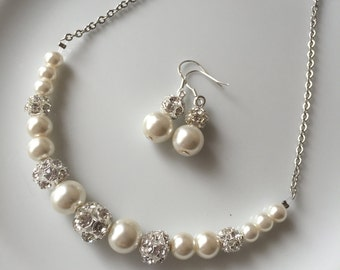 Wedding jewelry, wedding jewelry for brides, wedding jewelry set, wedding jewelry for bridesmaids, bridal jewelry, pearl, pearl jewelry set