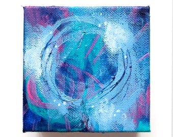"4""x4"" DAILY FLASH SALE - Original Acrylic Painting - 24 hour sale!"