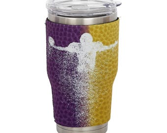 LSU Tigers Purple/Yellow 2-Color Yeti Sleeve- 30oz Tumbler-Game Day Team Colors  -Customize Your Cup!