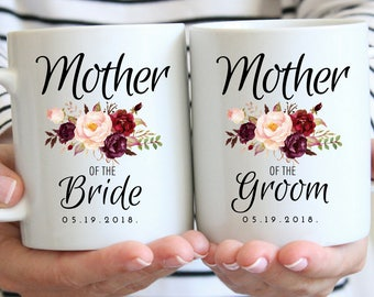 Mother of the Bride and Groom Gift, Mug Set, Gifts for Mom, Mother Wedding Gift, Mom of the Groom, Coffee Mug, Mom Wedding Gift, Wedding Mug