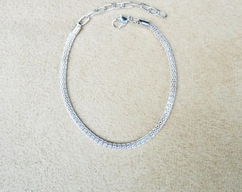 Add a Bead 3mm Mesh Ankle Bracelet BUY 3 GET 1 FREE for European Charms