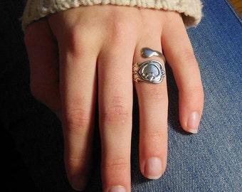 Claddagh Ring, Claddagh Heart Ring, Irish Ring, Claddagh Spoon Ring, Silver Spoon Ring, Celtic Ring,  Heart Hand Ring, Irish Promise Rings