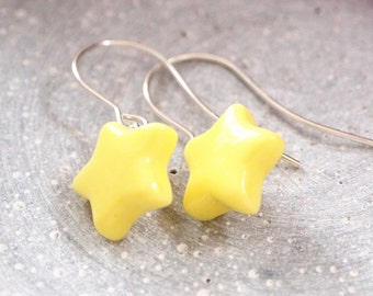 "Earring porcelain Star ""Buzzer Star"""
