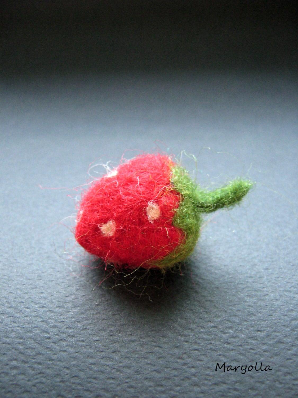 Filz Erdbeere gefilzt Erdbeere gefilzte Obst Wolle Filz