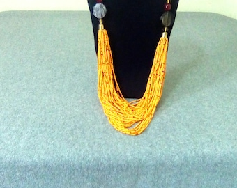 African necklace | Beaded necklace | African Jewelry | Maasai Necklace | Zulu necklace | Kenyan necklace | Tassel necklace
