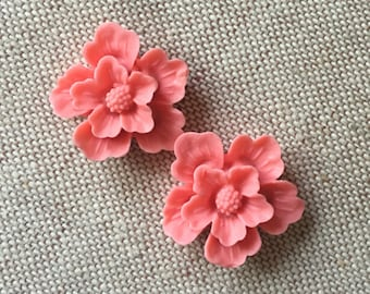 12 pcs of sakura flower cabochon-22mm-rc0166--7-pink