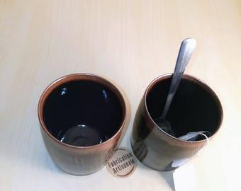 Box Gloria - Set of two stoneware varnished