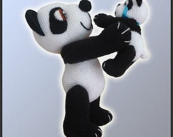 Amigurumi Pattern Crochet Panda Bears DIY Instant Digital Download PDF