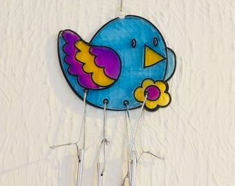 Bird sun catcher wind chime, sun catcher, wind chime, Mother's Day gift, gift for her, window decoration,