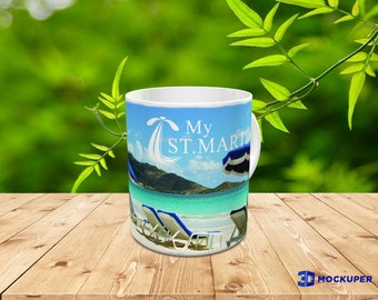 St. Martin Caribbean Beach Coffee Mug