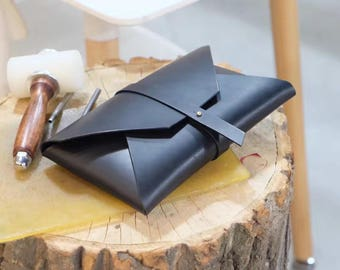 Buttero Leather envelope clutch, minimalist clutch bag, vegan bag, clutch wallet, Envelope Clutch, Leather envelope pouch