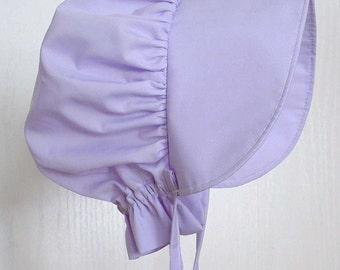 Toddler Sun Bonnet, Purple Sun Bonnet,  Pioneer Bonnet ,Baby Bonnet,Pioneer Bonnet -  Ready to Ship