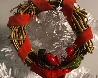Red Wreath Ornament
