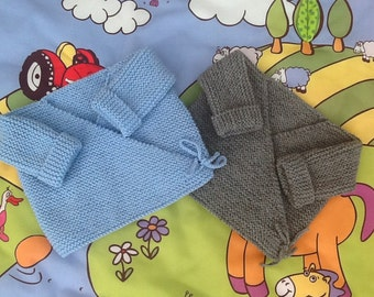 Lot 2 cardigans baby blue and gray