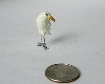 Teeny Tiny Miniature Heron - Bird Sculpture - FREE Shipping