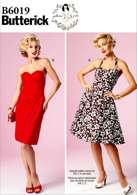 Sewing Pattern for Strapless Evening Dress, Ladies Sundress Pattern ...