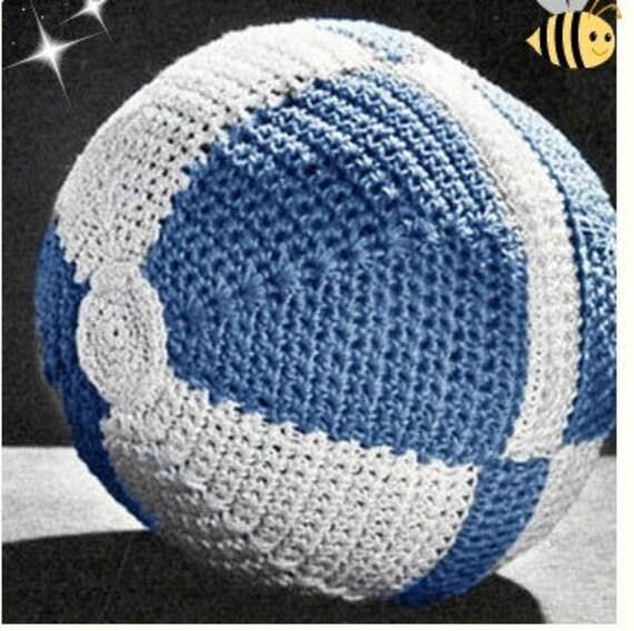 Patron pdf de tejido en crochet juguete balon pelota para bebe nino