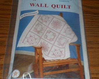 20% Off 1993 Jack Dempsey Needle Art Kit~Wall Quilt~#739 Pattern #4 Sampler