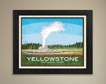 Yellowstone National Park Framed Print
