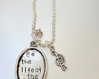 Shawn Mendes,babe be the life of the party, handstamped necklace, charm, Mendes Lovers, aluminium, engraved, star charm