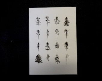 Ink trees Painting