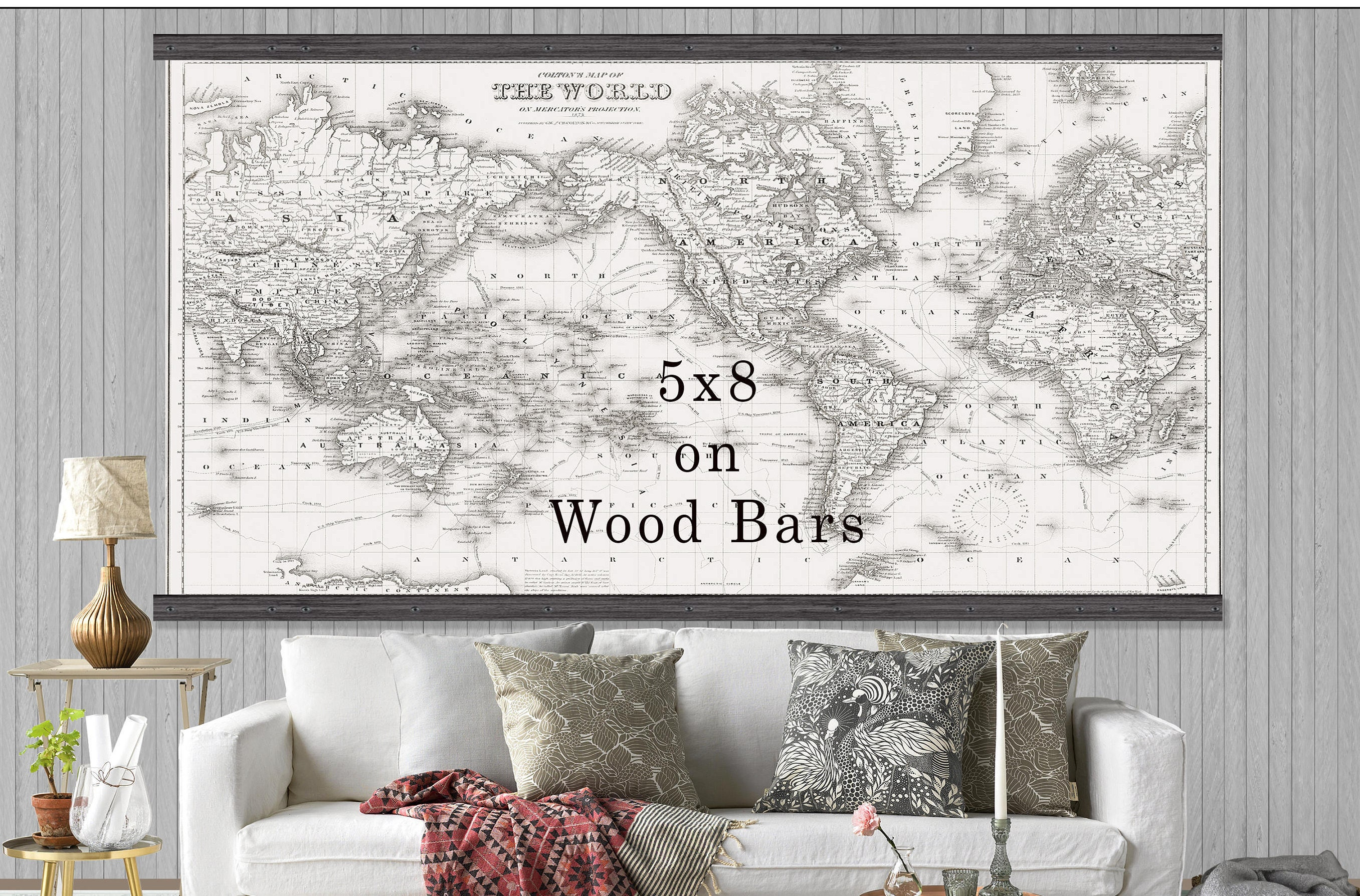 Large vintage world map world map in antique whites world map large vintage world map world map in antique whites world map grand canvas wall tapestry gumiabroncs Image collections