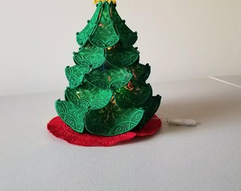 Freestanding lace lighted Christmas Tree