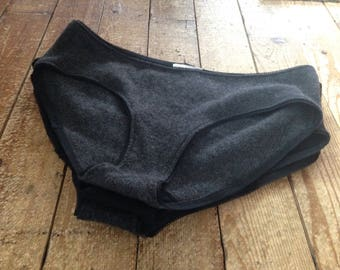 Two Pairs Cashmere Underwear for Women - Made to Order BITTERNS - Size XS to XL