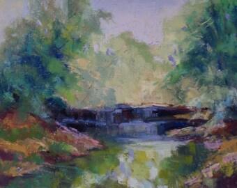 Spring Falls - 5x7 - Original Pastel