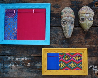 Multipurpose Frames - Upcycled from discarded wood and fabric rags